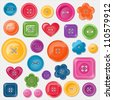 Set of colored vector buttons for your design. EPS 10 vector illustration.  Each element is isolated on a separate layer. - stock vector