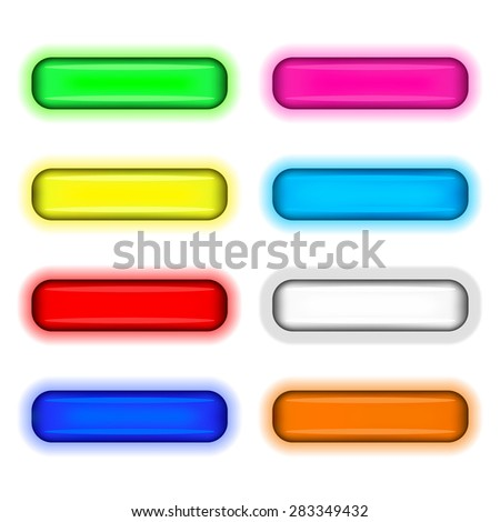 Set of colored web buttons. EPS10 vector illustration