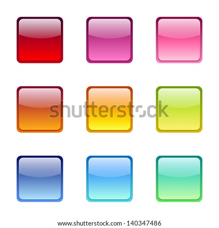 Set of colored web icons. Vector eps-10. - stock vector