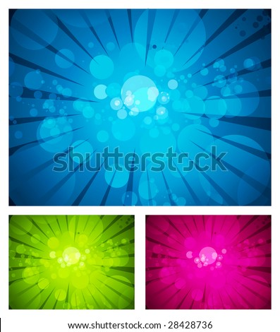 Set of colorful abstract backgrounds. Vector Illustration - stock vector