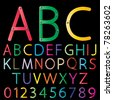 Set of colorful alphabet vector - stock photo