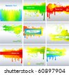 Set of colorful background - stock vector