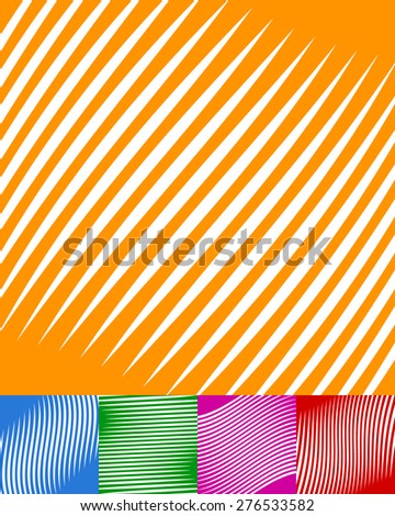 Set of colorful backgrounds with white stripes and different colors, effects.