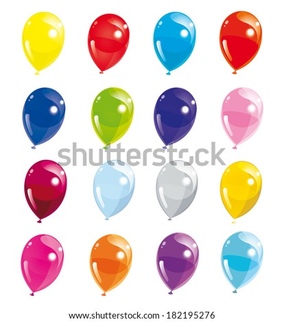 Set of colorful balloons, vector illustration - stock vector