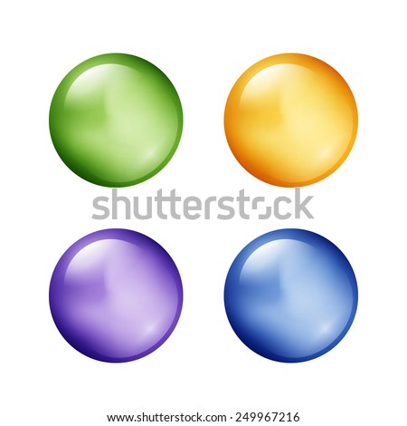 Set of colorful balls on white background. Vector illustration - stock vector