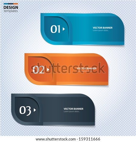 Set of colorful banners, bookmarks. Modern design template. - stock vector