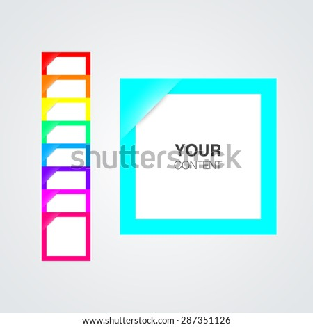 Set of colorful blank notes for your image or text vector stock eps10 illustration - stock vector