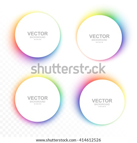 Set of colorful blurry circle banners. - stock vector