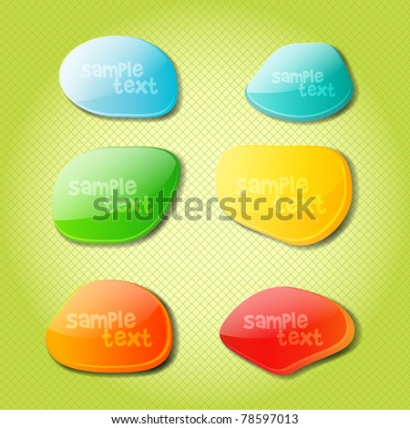 Set of Colorful Bubbles for Speech - Vector EPS10 Design