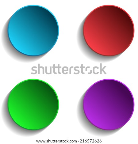 Set of Colorful Circle - stock vector