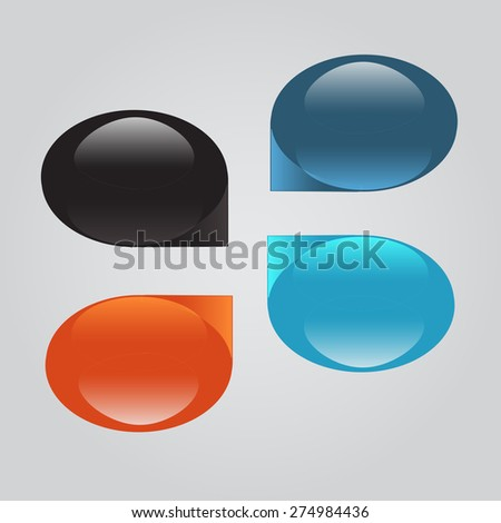 set of colorful circles. can be used as a place for the text. in web design or desktop. Vector illustration - stock vector