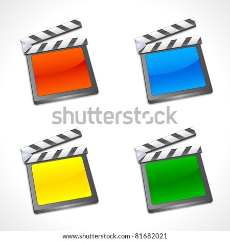 Set of Colorful Film Slate