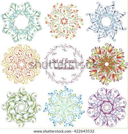 Heart Flowers Stock Vector 268991438