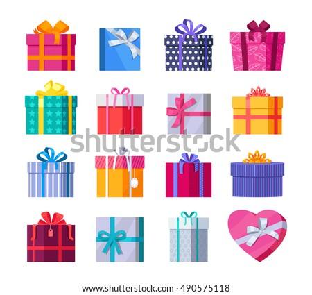 Set colorful gift boxes fashionable ribbons set colorful gift boxes fashionable ribbons 490575118 shutterstock negle Images