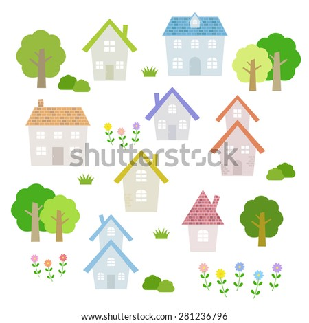 set of colorful houses / vector eps10 illustration