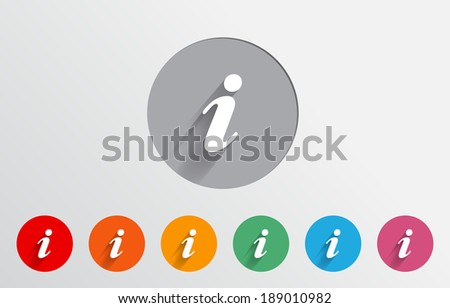 Set of colorful info icons - stock vector