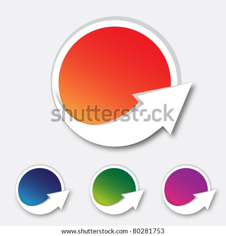 Set of colorful labels - stock vector