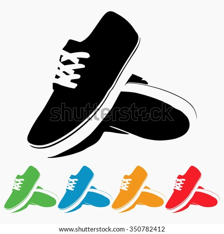 set colorful running shoe icon vector stock photo photo vector rh shutterstock com dc shoes vector logo free dc shoes vector logo