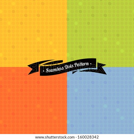 Set of colorful seamless dot patterns - stock vector