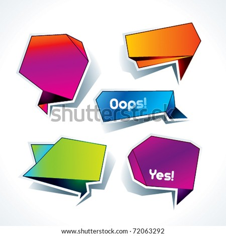 Set of colorful speech bubbles on the white background. Vector illustration. - stock vector