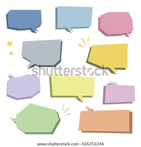 Set of colorful speech bubbles / vector eps 10 illustration