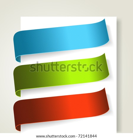 Set of colorful textile labels. Vector eps10 illustration - stock vector
