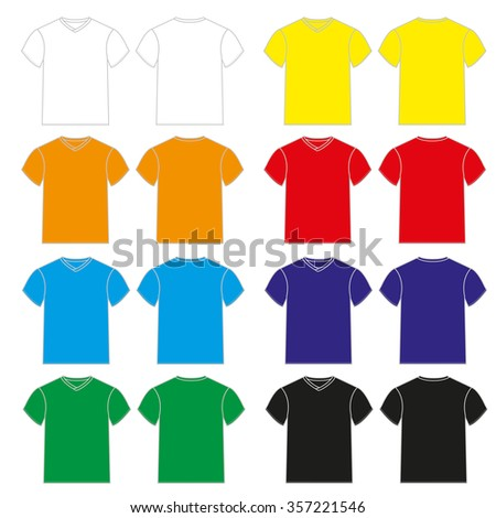 Set of colorful Tshirt tanks for men