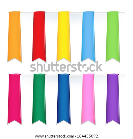set of colorful vector bookmarks - stock vector
