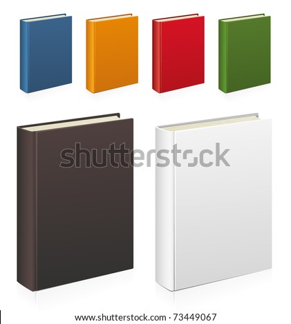 Set of colorful vector books - stock vector