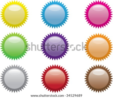 Set of colorful vector sale stickers and labels.(easy editable, see also other icons in my portfolio)