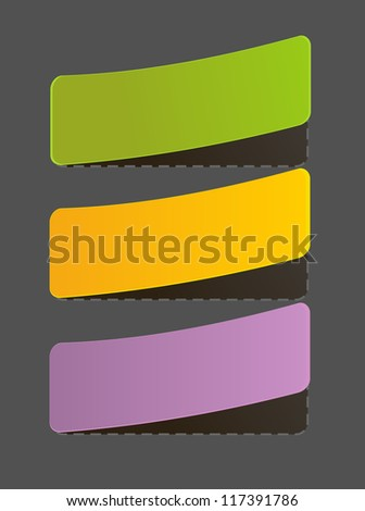 Set of Colorful Vector Sample stickers for various options - stock vector