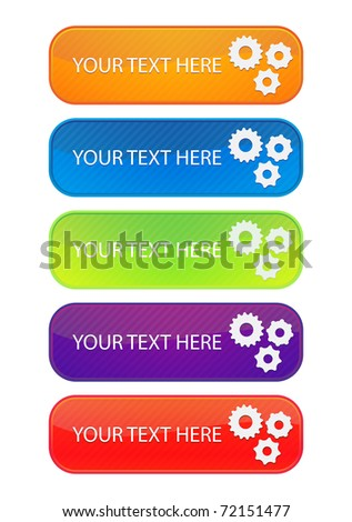 set of 5 colorful web banners/ EPS 10 - stock vector