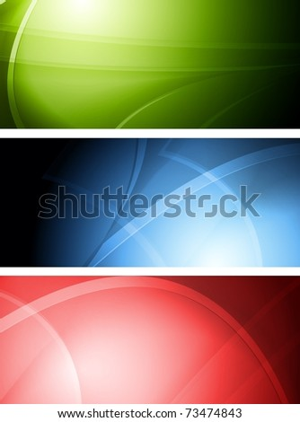 Set of colourful wavy banners. Vector illustration eps 10 - stock vector