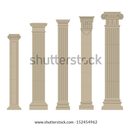 set of column 2 - stock vector