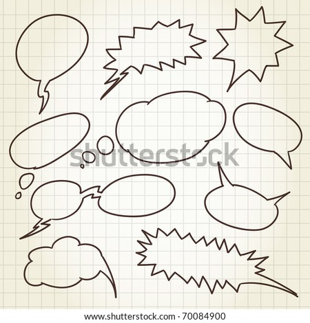 Set of comic style talk clouds - stock vector