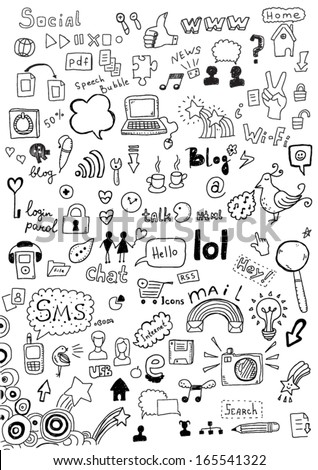 Set of communication icons - stock vector