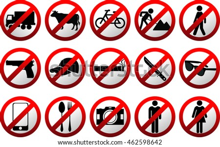 Set of Construction sign warning  and symbol vector