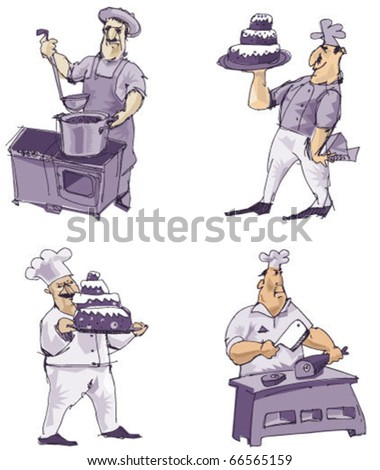 set of cookers - stock vector