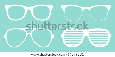 set of cool glasses - stock vector
