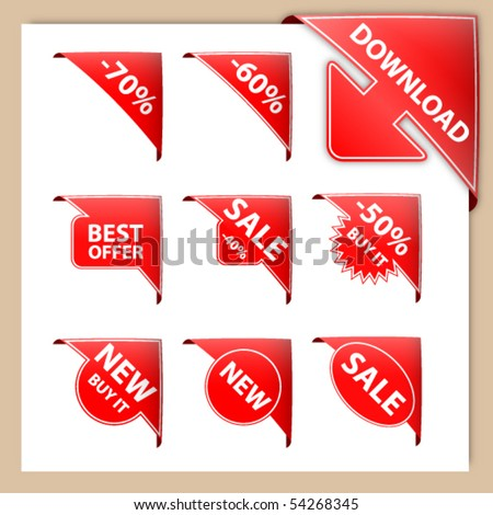 set of corners - stock vector