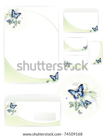 set of corporate identity templates - stock vector