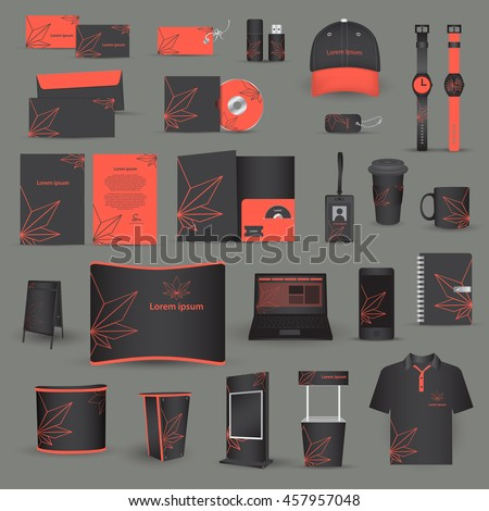 Set Corporate Identity Templates Vector Stock Vector 457957048 ...
