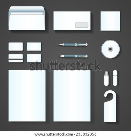 Set of corporate identity templates. Vector illustration - stock vector