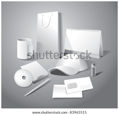 Set of corporate templates - stock vector