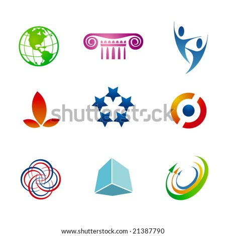 Set of corporate vector branding templates. Just place your own brand name. - stock vector