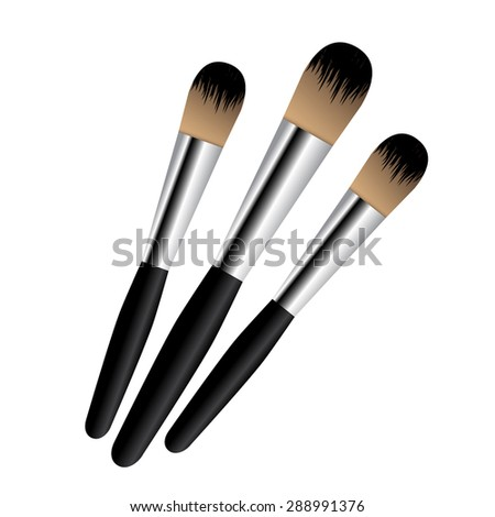 makeup brush vector - photo #22