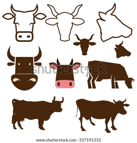 Beef Cow Icon