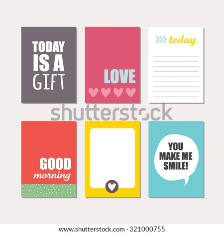 Set creative cards design vector design stock vector 2018 set of creative cards design vector design templates for journal cards scrapbooking cards m4hsunfo
