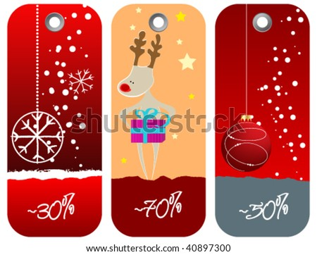 Set of cute Christmas price tags