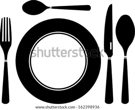 Set of  cutlery - stock vector